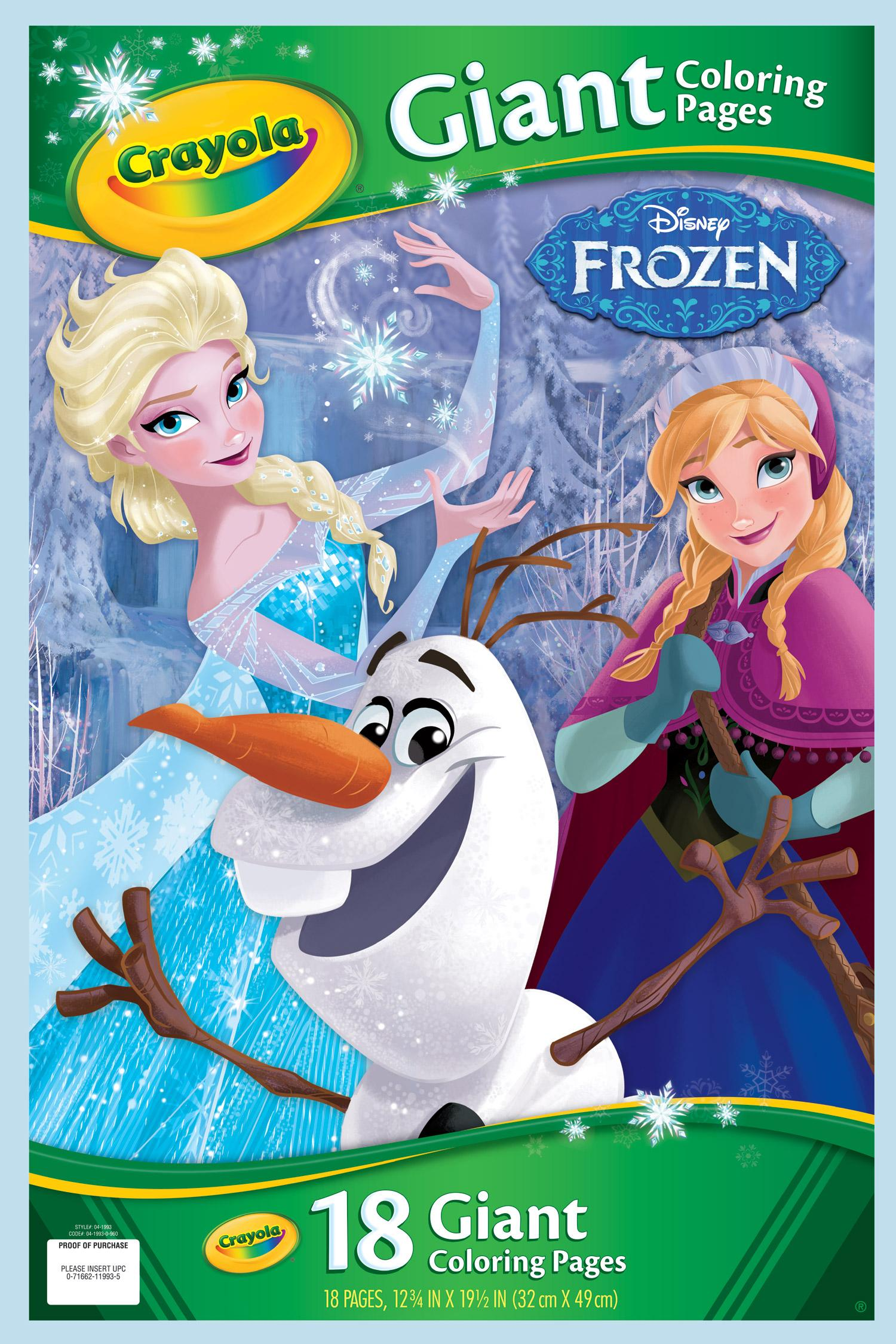 Crayola Giant Disney Coloring Book 1275X19 7 16 18Pg Frozen Yo