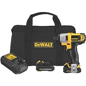 dewalt impact driver, 12v, 12 volt, compact drill, driver