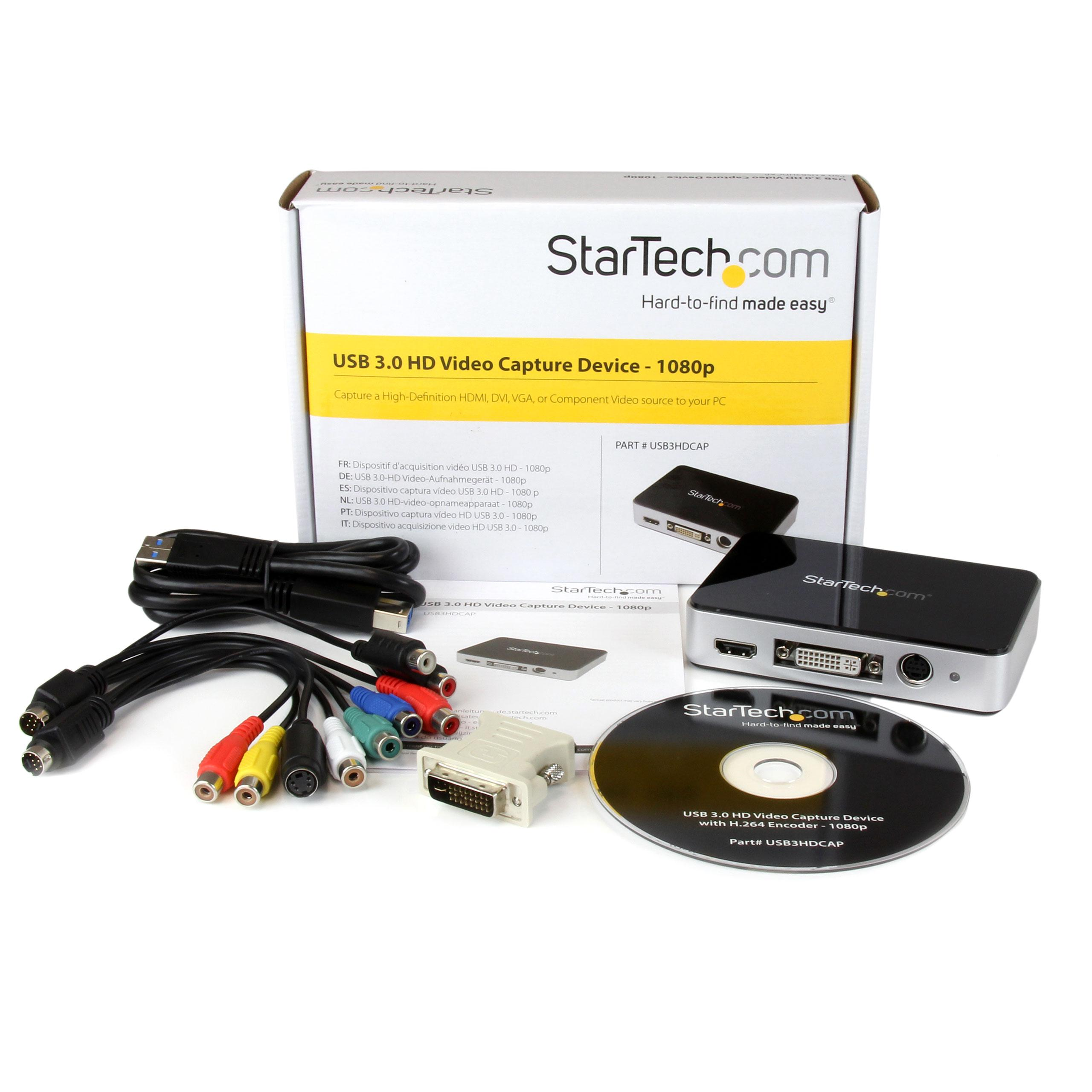 StarTech com HDMI Video Capture Device for USB 3 0 Computers - VGA / DVI /  CPNT / HDMI Video Capture Device - 1080p 60fps