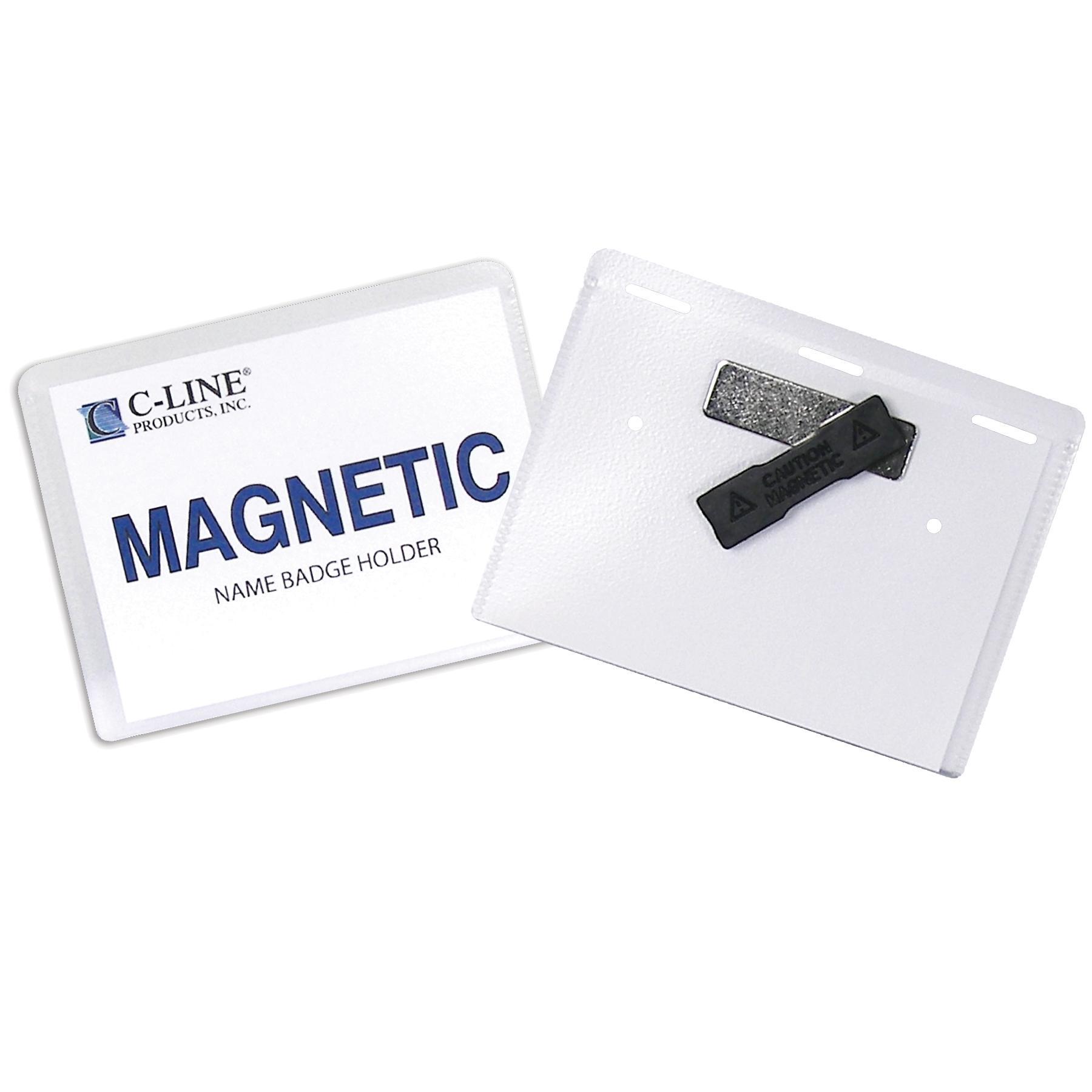 C Line Magnetic Name Badge Holder Kit Horizontal 4 X 3