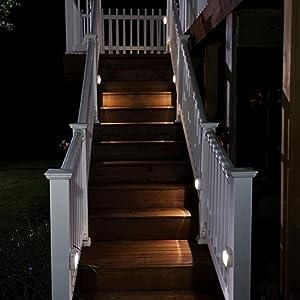 mr beams stick anywhere light, wireless outdoor step light