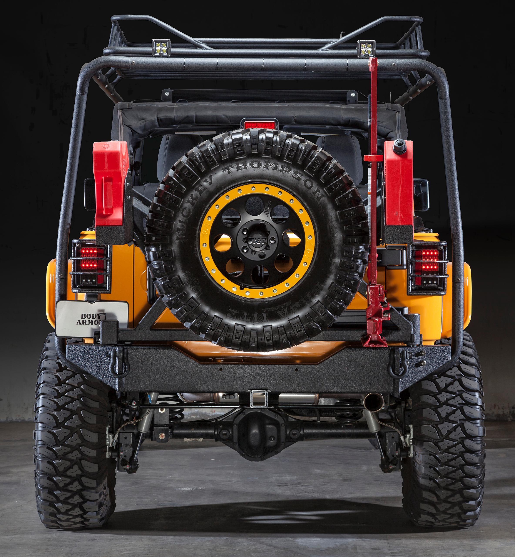 Body Armor 4x4 Jk 2395 Black Steel Rear Bumper With