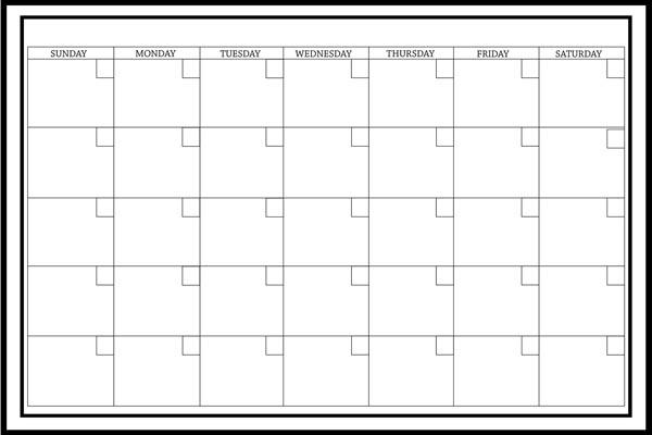 Monthly Calendar Board : Wall pops wpe peel and stick white board with marker