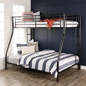 Walker Edison Twin Over Full Metal Bunk Bed