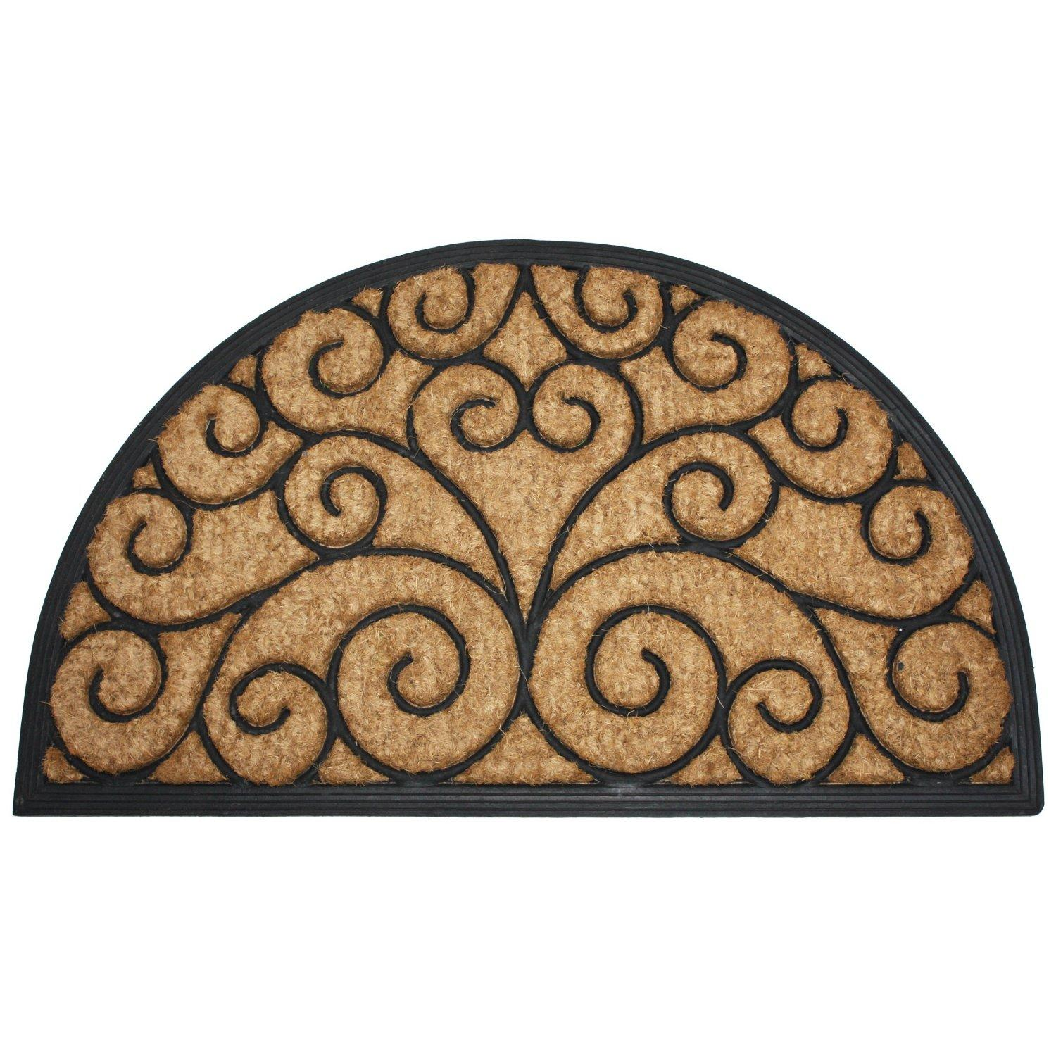 J Amp M Home Fashions Orleans Half Round Natural Coir And