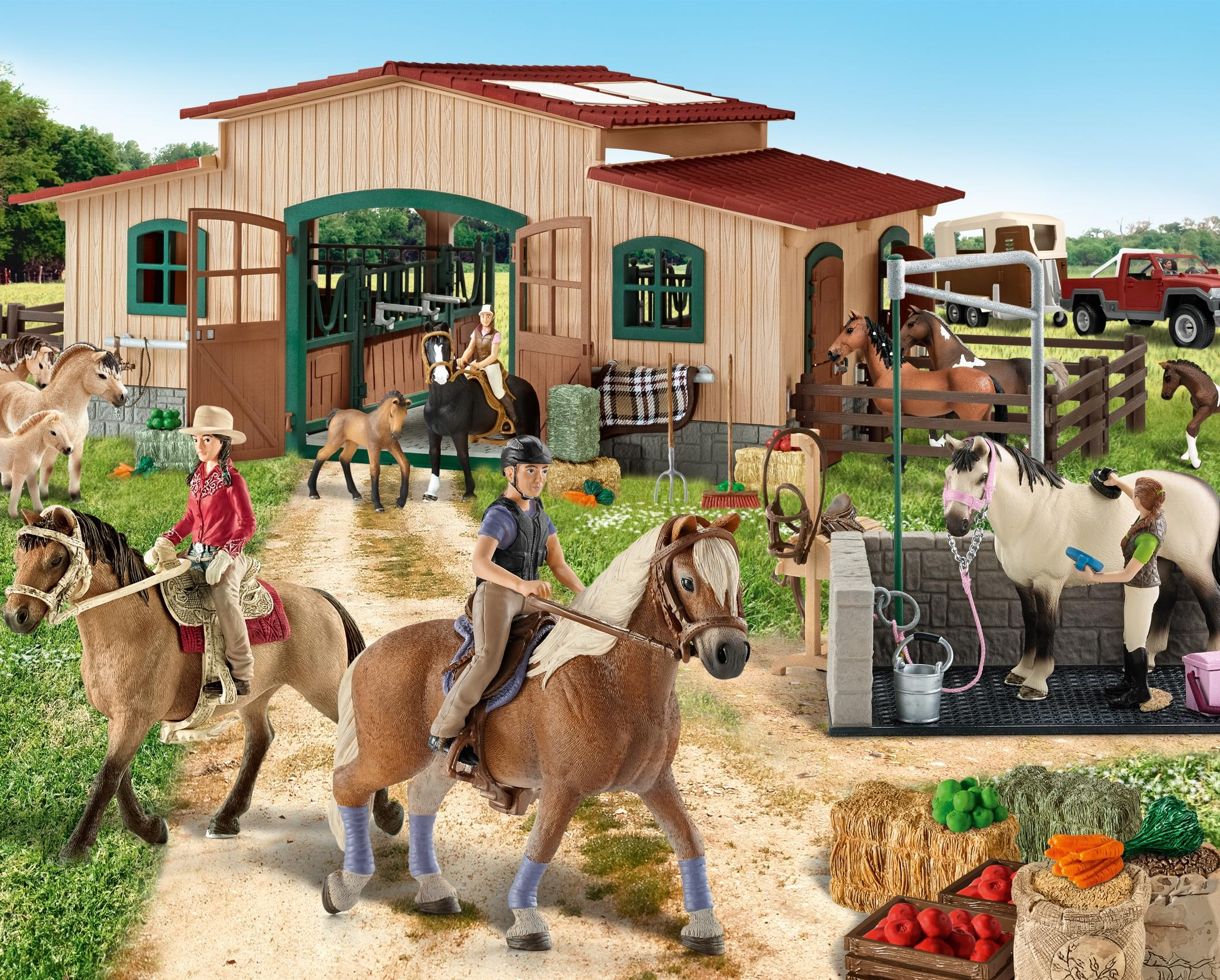 Schleich Horse Stable With Accessories Figures Amazon Canada