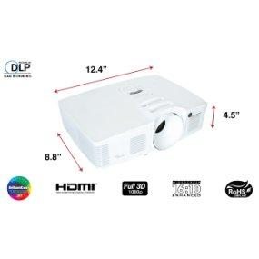 Optoma Hd28dse 1080p 3d Dlp Home Theater Projector Amazon
