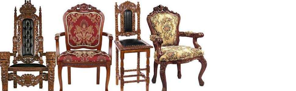 Design Toscano Furniture, Chairs, Wood Chairs,