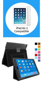 ipad air 2 smart cover compatible case, ipad air 2 case leather folio, ipad air 2 case