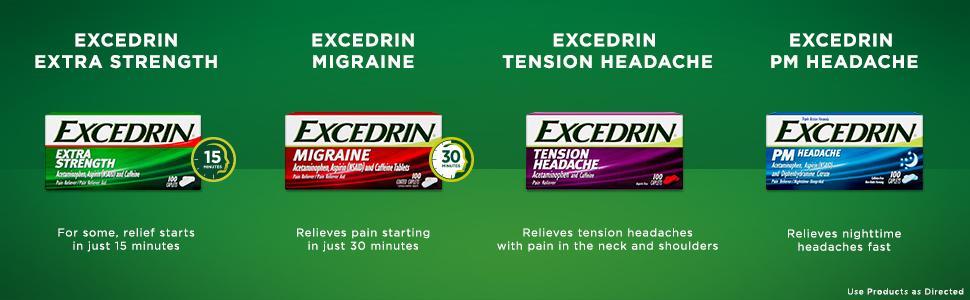 Excedrin Migraine 300 Coated Caplets Amazon Ca Grocery