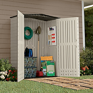 Protect and Organize Your Outdoor Equipment - Rubbermaid Outdoor Storage Sheds not only look great in your backyard but they are designed to withstand all weather conditions. Featuring a double-wall construction and weather-resistant material, these storage sheds keep all of your lawn care.