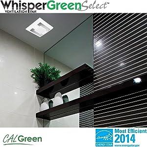 Panasonic FVVKL Whisper Select FanLight Green Tools Home - Panasonic 150 cfm bathroom fan