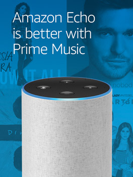 Amazon Echo is better with Prime Music