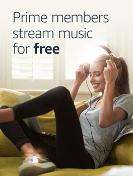 Prime Members stream music for free