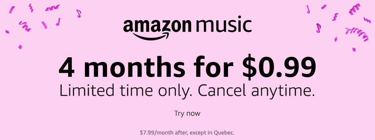 Amazon Music Unlimited 2 free months of Family - up to 6 accounts