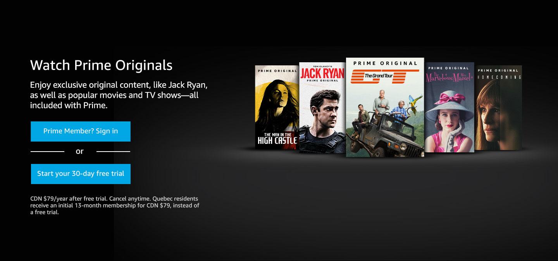 Amazonca Prime Video