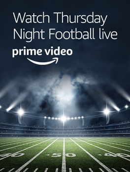 Thursday Night Football. Watch Now. Prime Video.