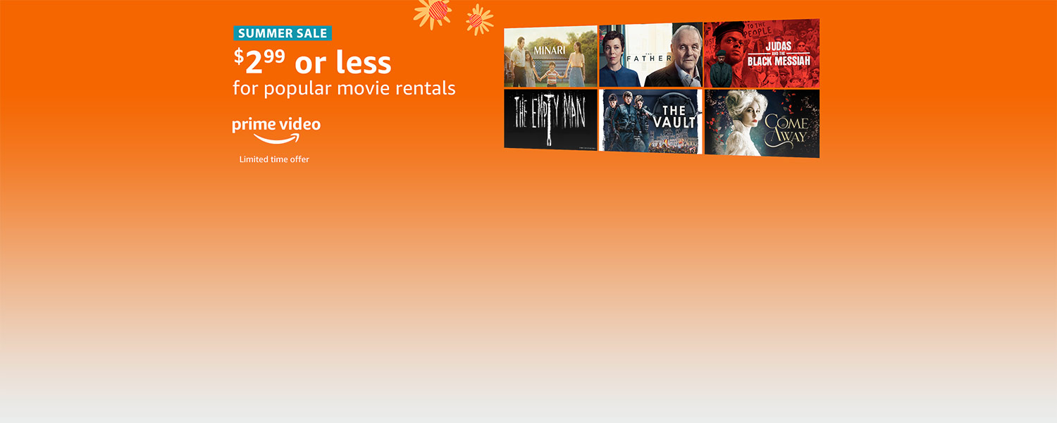Summer Sale. $2.99 or less for popular movie rentals. Limited time offer. Prime Video.