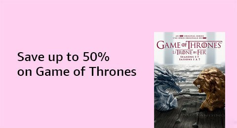 Save up to 50% on Game of Thrones