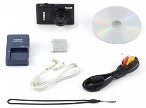 Canon ELPH 300 HS Box Contents