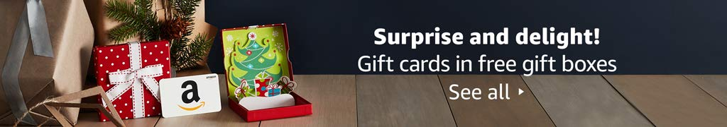Gift cards in free gift boxes