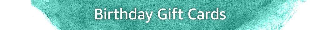 Birthday Gift Cards Header