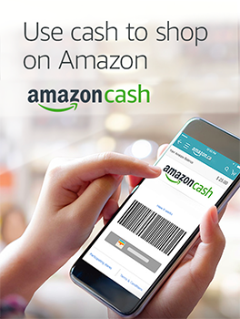 Use cash to shop on Amazon