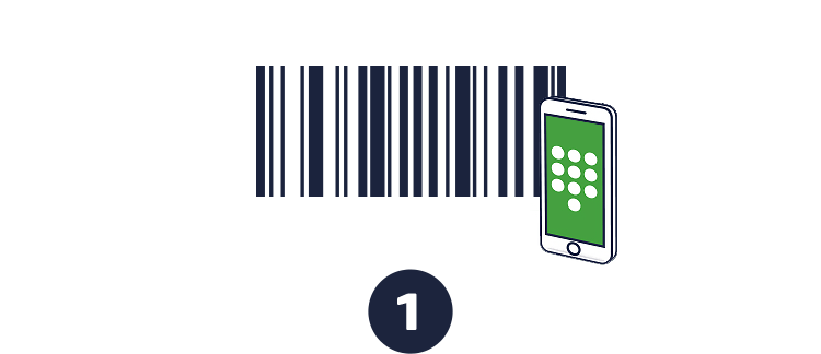 Get your personalized barcode or verify your mobile phone number