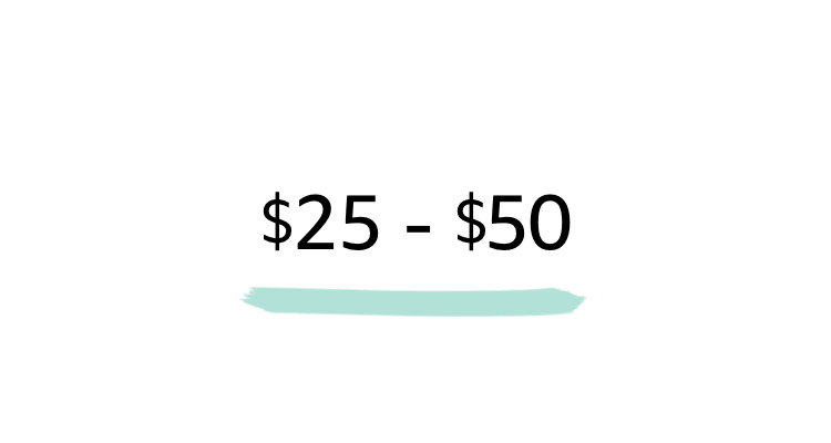 $25-$50