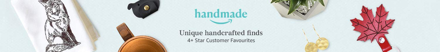 Handmade: Unique handcrafted finds. 4+ Star Customer Favourites