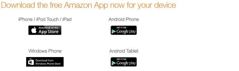 Téléchargez gratuitement l'App Amazon