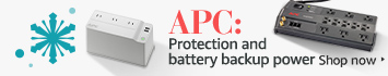 Battery backup and surge protection from APC
