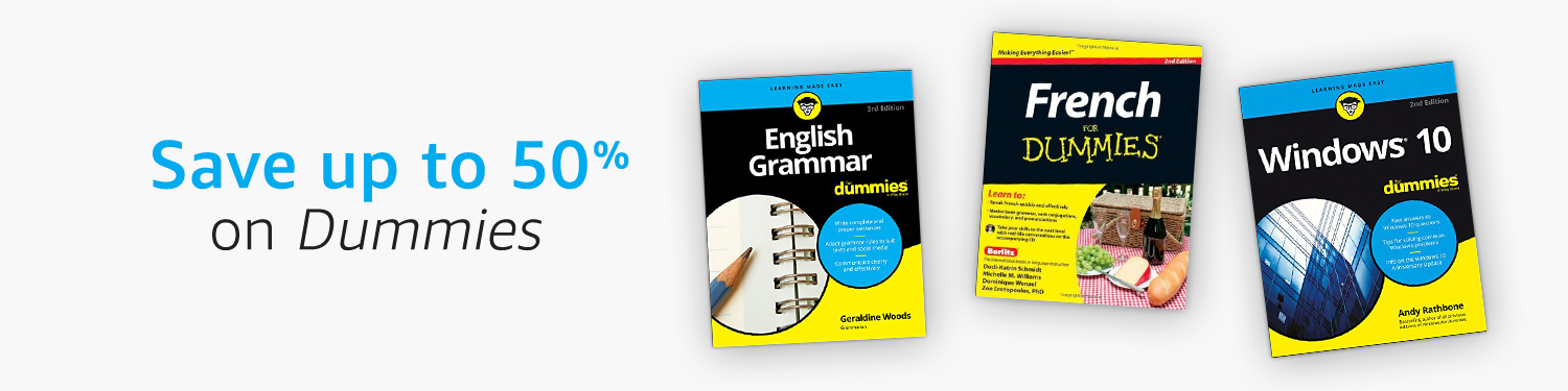 Save up to 50% on Dummies titles