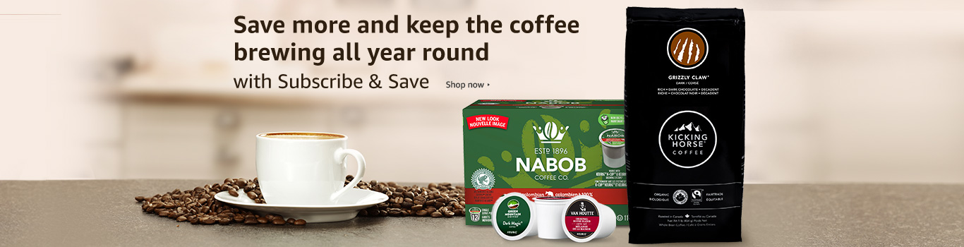 Subscribe & Save on coffee