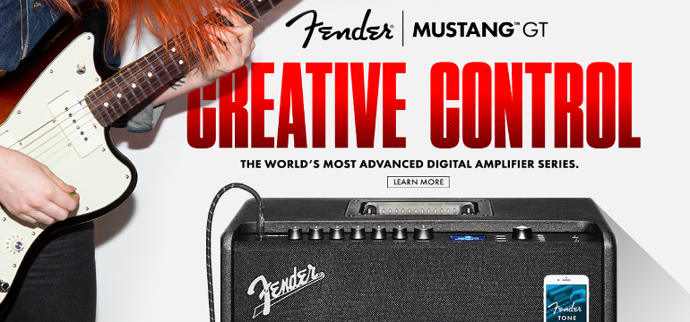 Fender Mustang GT Amplifiers: Creative Control The World's Most Advanced Digital Amplifier Series