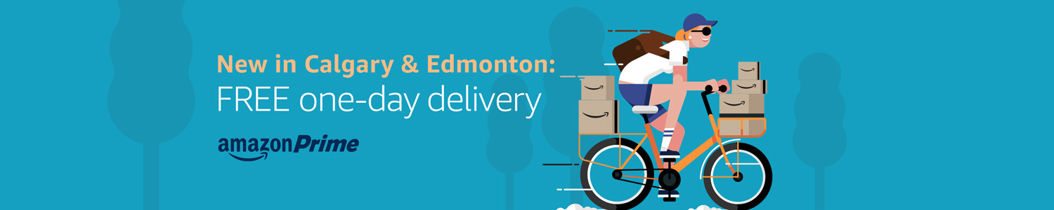 Free Prime One-Day Delivery Available in Calgary and Edmonton