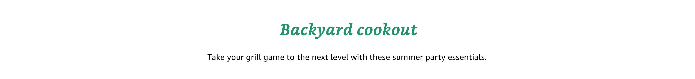 Backyard Cookout
