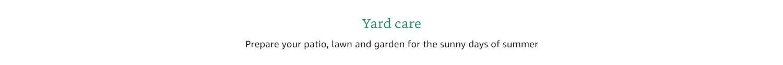 Yard Care