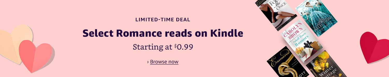 Limited-time deal: Select Romance reads on Kindle, starting at $0.99