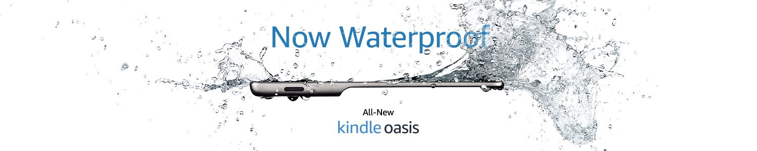 All-new Kindle Oasis, unlike any Kindle you've ever experienced at 300 ppi, 7-inch display, and now waterproof.