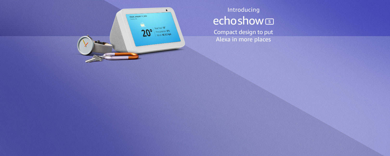 Introducing Echo Show 5 | Compact design to put Alexa in more places