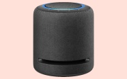 Echo Studio on coral background.  On sale for $189.99 was $259.99.