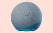 Echo Dot (4th Gen) on coral background.  On sale for $39.99 was $69.99.