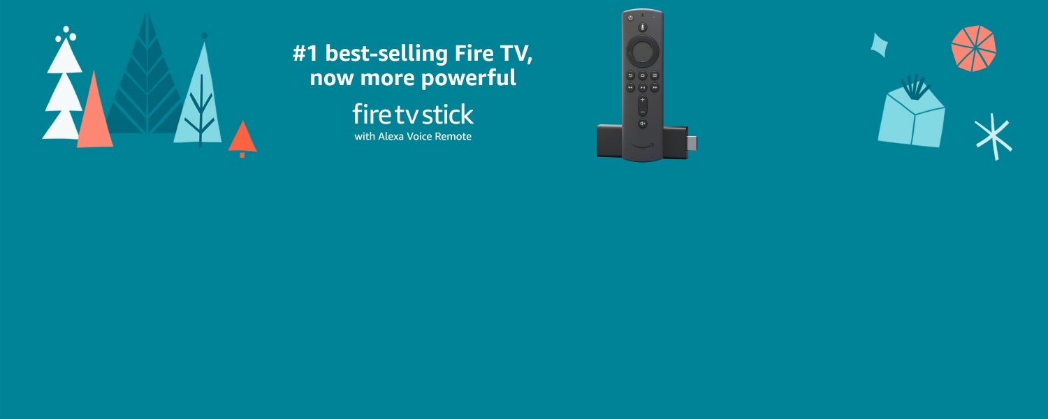 #1 best-selling TV, now more powerful. All-new Fire TV Stick with Alexa Voice Remote.