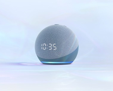 All-new Echo Dot with Clock. Learn more