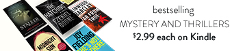 Best-selling mystery and thrillers $2.99 each