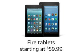 Introducing Fire tablets, starting at $59.99