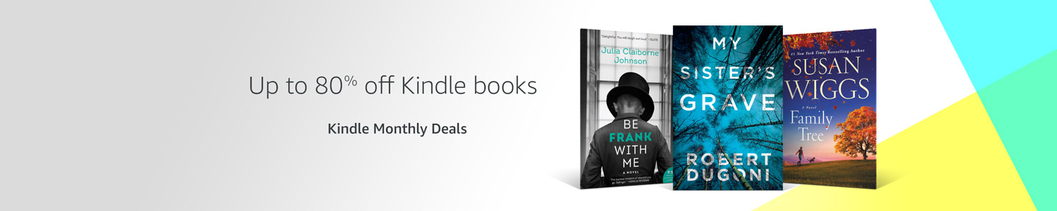 Up to 80% off over 1,000+ Kindle books.