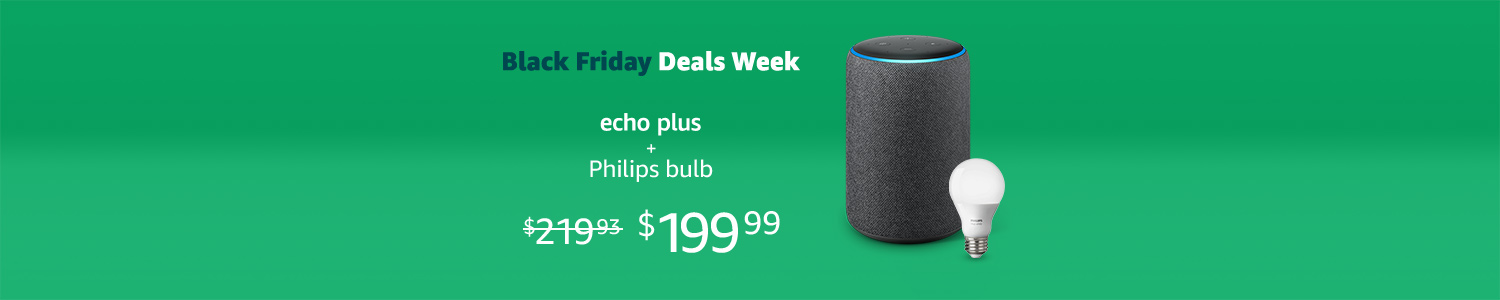 All-new Echo Plus with free Philips Hue Bulb
