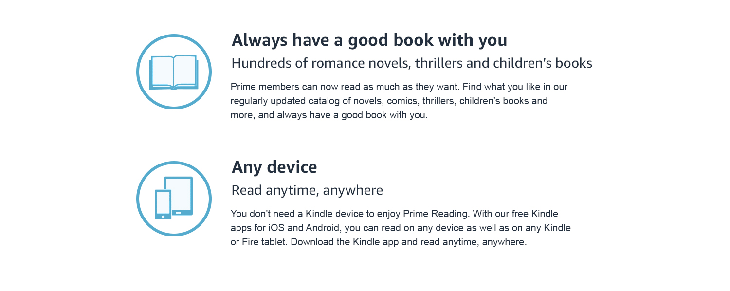 Prime members can now read as much as they want from hundreds of books, comics and more.